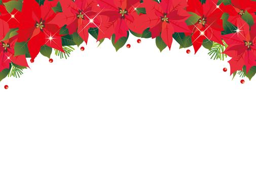 Poinsettia frame 3