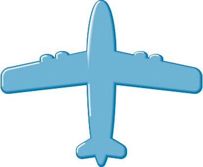 Airplane icon Blue