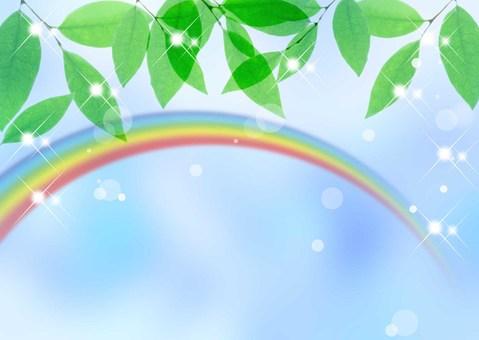 New green _ rainbow _ sky background