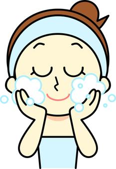 Women's facial cleansing hair band