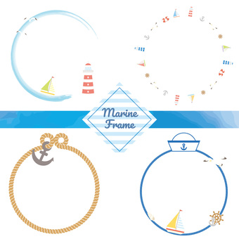 Marine circle frame set
