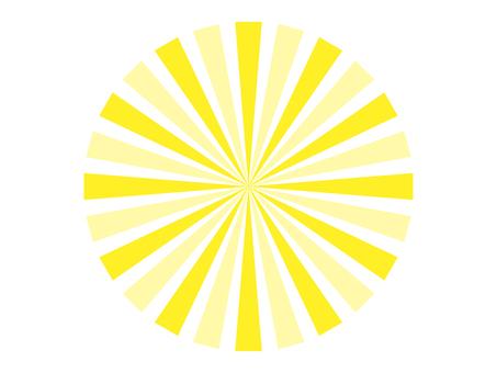 放射線 黄色 円形