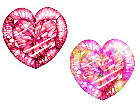 Watercolor gem (pink)
