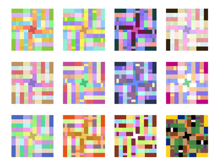 Colorful lattice pattern