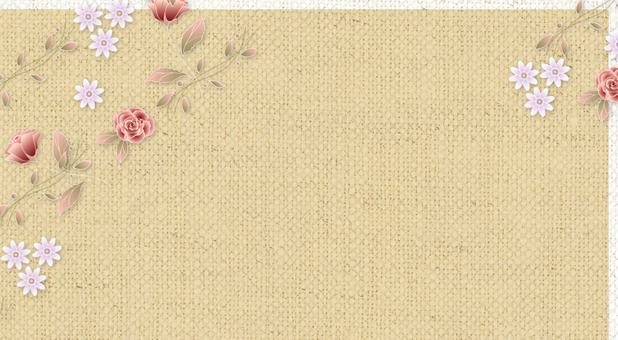 Message Card Floral Rose E