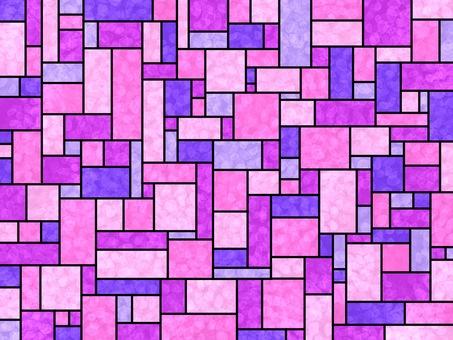 彩色玻璃粉紅色紫色