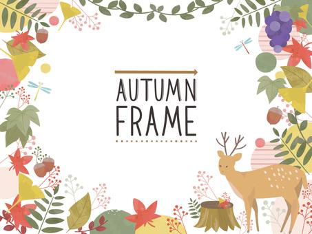 ちょっと北欧風な秋のオシャレなフレーム