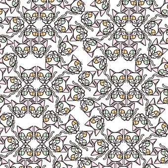 Tatami pattern of cat 028