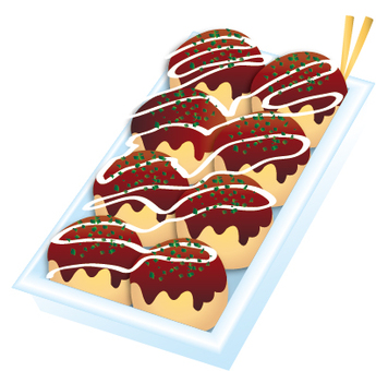 Takoyaki illustration