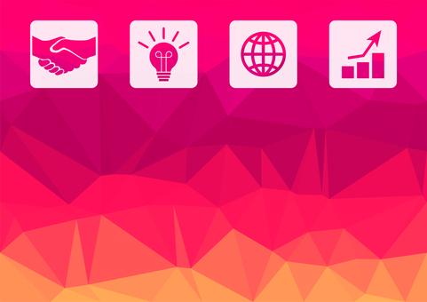 핑크의 디지털 비즈니스 벡터 배경 자료