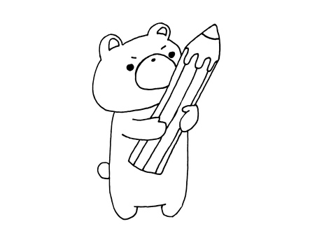 1 with pencil and bear 1