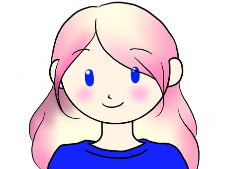 Pink hair female 2
