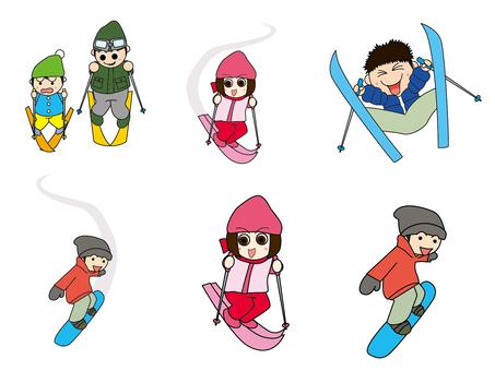 겨울 스포츠 세트