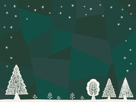 Illustration of winter forest 01