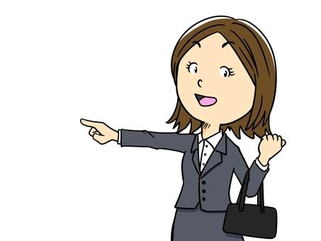 Illustration of women going to go around (OL)