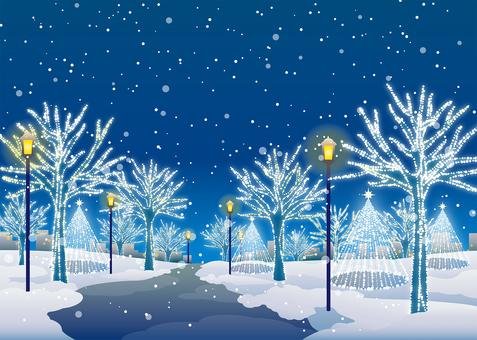 Illumination background illustration