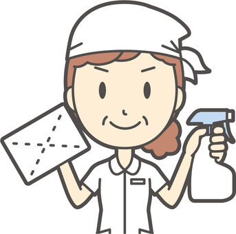 Middle-aged woman nurse white coat-203-Bust