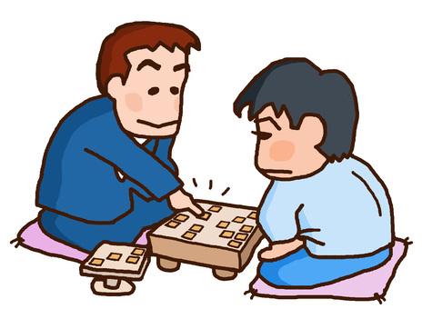 Men who play shogi