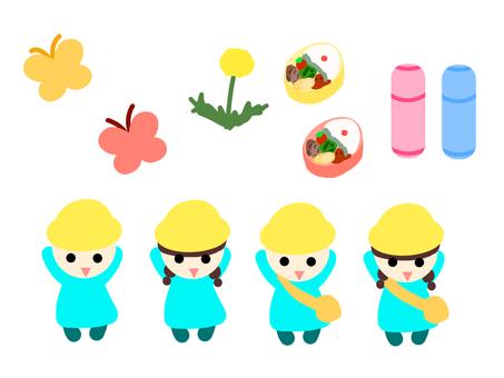 春の幼稚園