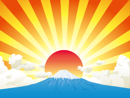 Fuji and the sunrise background 02