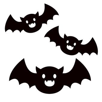 박쥐 실루엣 할로윈