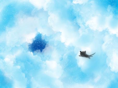 날아 가자 3 고양이