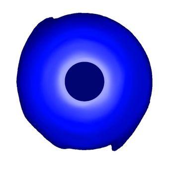 Blue black hole