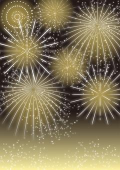 Fireworks background, vertical