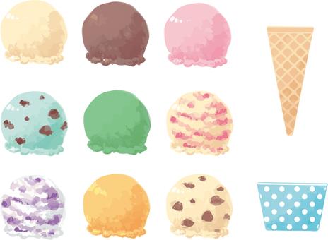 冰淇淋和玉米杯套
