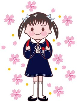 Elementary school entrance girl 2