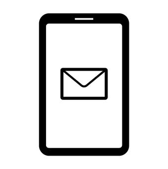 Illustration of smartphone email reception