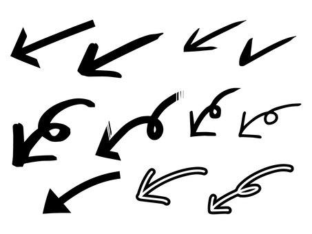 Handwritten arrows