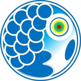Koinobori Blue Carp