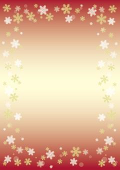 눈송이 프레임 (빨간색)