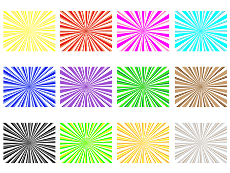 Radiant rectangle 12 pattern