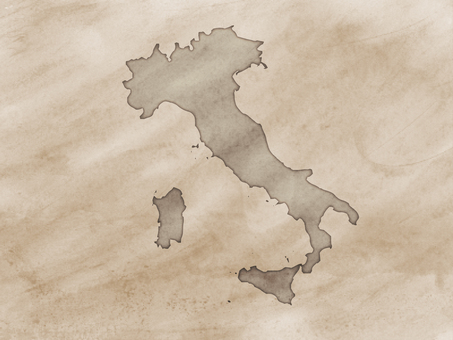 Italy map old map style