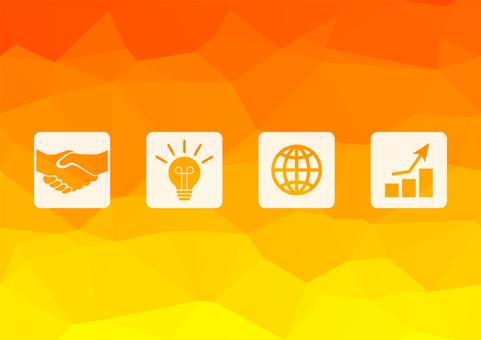 橙色數字式企業背景材料