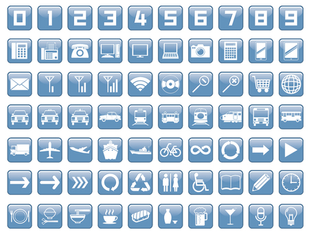 Three-dimensional icon set