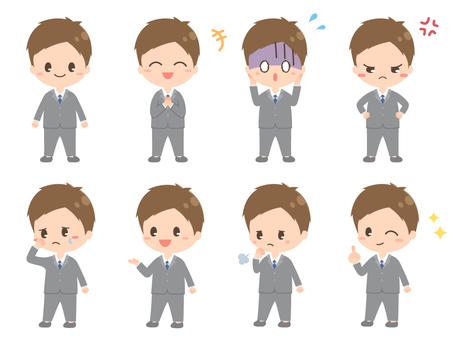 セット2/短ショート/スーツ/男性