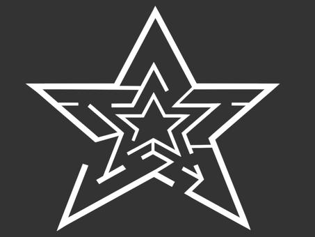 Star maze (white)