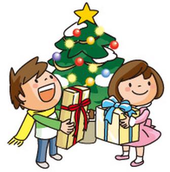 聖誕樹和孩子1