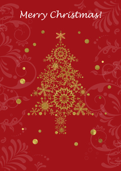 クリスマスツリー_赤背景_縦2175