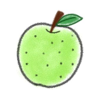 없음 크레용 녹색