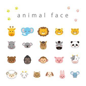 Animal face set