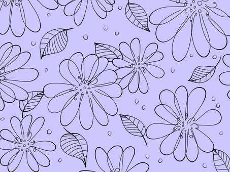 Simple flower background material 01 / purple