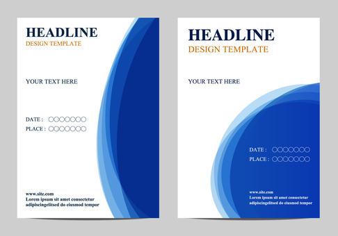 Poster Template Blue