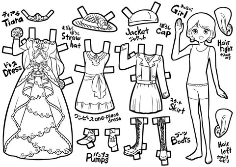 Coloring version dress up