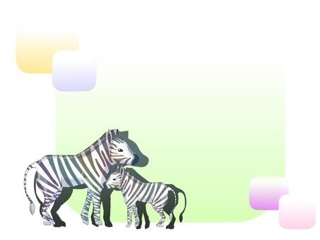 Animal template (zebra)