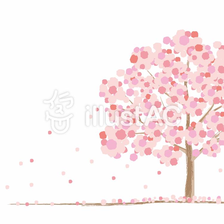 桜の木イメージイラスト No 380908無料イラストならイラストac