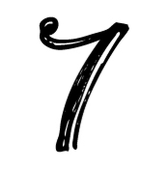 필기 숫자 7